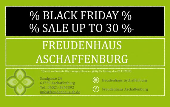 % BLACK FRIDAY % – 23.11.2018 – UP TO 30%